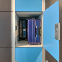 Size of the luggage lockers